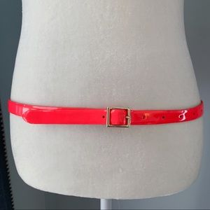 J. Crew Neon Pink Patent Leather Belt Size Small